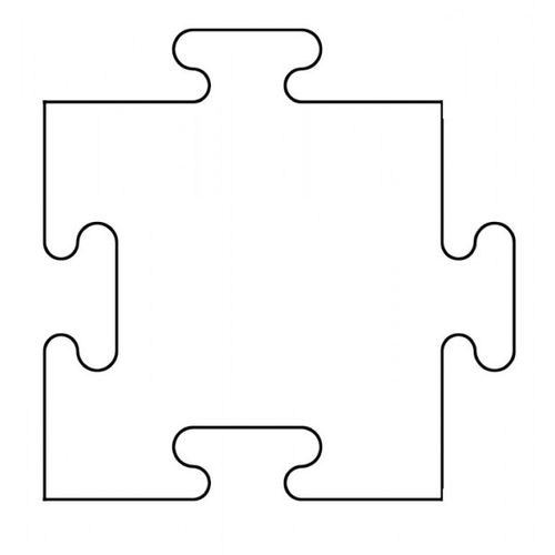 Versatile image for puzzle piece printable