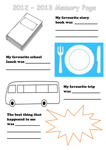 my memories poster ks1 transition activity by mytmot teaching resources tes. Black Bedroom Furniture Sets. Home Design Ideas