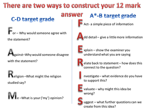 gcse re coursework answers