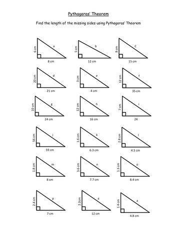 Pythagoras Basic Intoduction KS3 by TeachByNumbers - Teaching ...