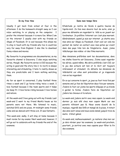 Ks3 French Module Vocab Lists By Myrtille Teaching Resources Tes