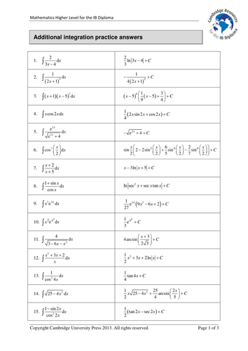 Cambridge IB Maths HL 15: Complex numbers -Assess by