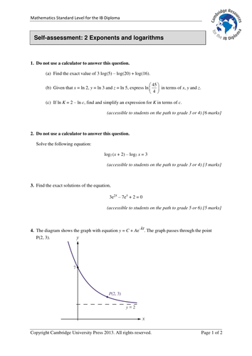 Cambridge IB Maths SL 7: Binomial expansion-Assess by