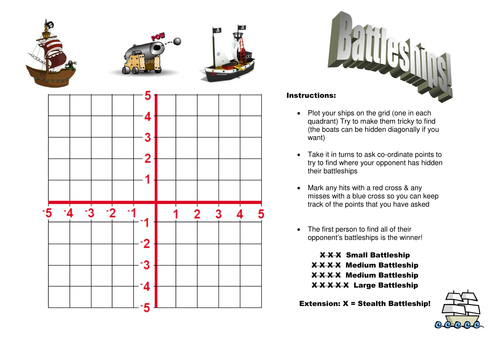 Battleships game by lauranorwich Teaching Resources TES – Battleship Game Template