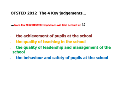 LATEST OFSTED 2012 QUICK TIPS