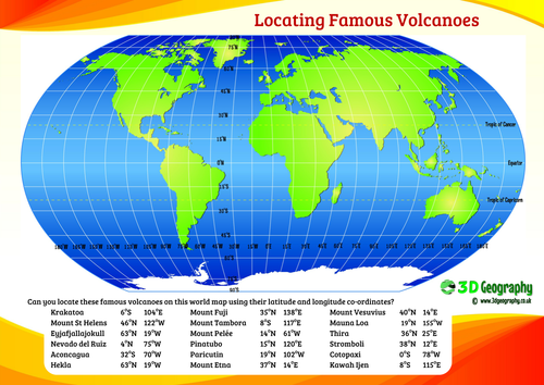 Locating volcanoes using latitude and longitude by idj teaching locating volcanoes using latitude and longitude by idj teaching resources tes gumiabroncs Choice Image