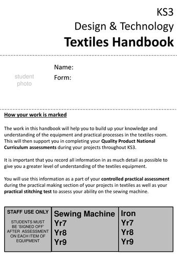 KS3 Textiles Student handbook