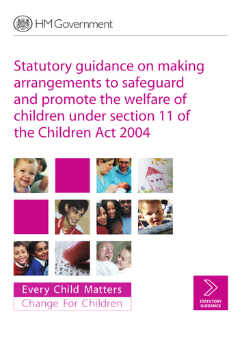 a safeguarding the welfare of children In safeguarding the welfare of children and young people social worker the role of the social worker is to investigate when concerns have been raised about a child the social worker will do an assessment of the child to find out his/her need's and if they are being met by the parents/guardians.