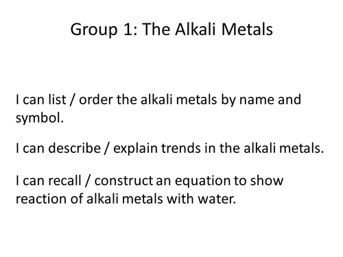 The alkali metals by echapman teaching resources tes urtaz Choice Image