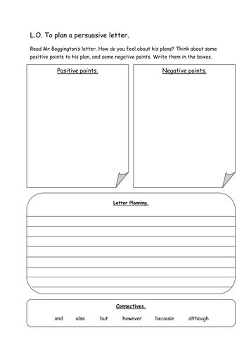 How To Write A Persuasive Letter Middle School