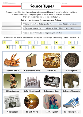 Primary, Secondary, Tertiary Sources. by Ichistory - Teaching ...