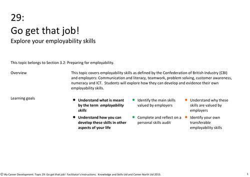 Go get that job! Explore your employability skills