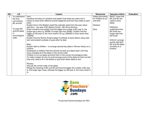 Roman timeline lesson plan worksheet by SaveTeachersSundays – Chronological Order Worksheets