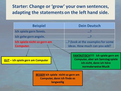 1st to 3rd person verbs - speak/write