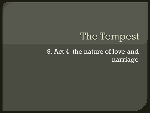 literary devices used in the tempest