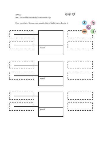 Describing and sorting materials worksheet by tim_caird