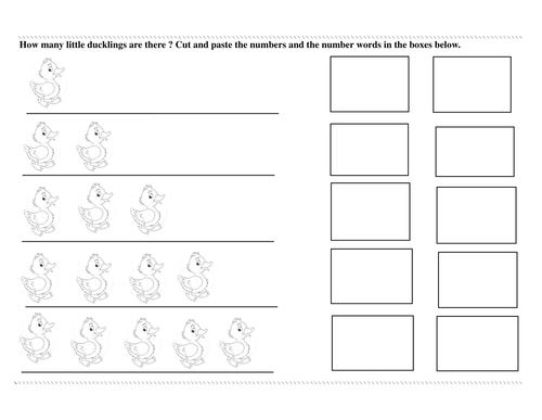 Five Little Ducklings worksheet