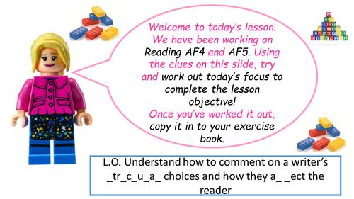 Reading AF3 & AF4 LEGO!