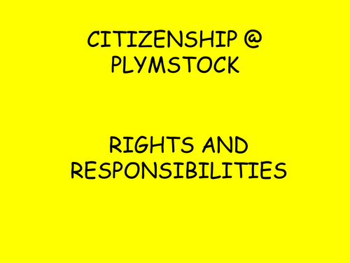 Citizenship Rights and Responsibilities Overview