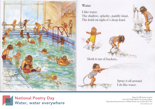 Water by Shirley Hughes poster