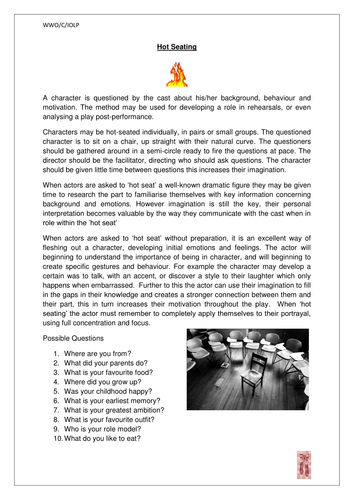 Hot Seating by loisborley | Teaching Resources