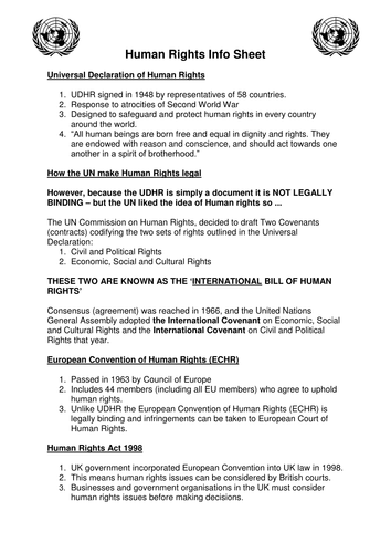 Printable Human Rights Worksheets : Lp and powerpoint on human rights by myi teaching