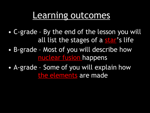 Life Cycle Of Stars By Ogrinter Teaching Resources Tes