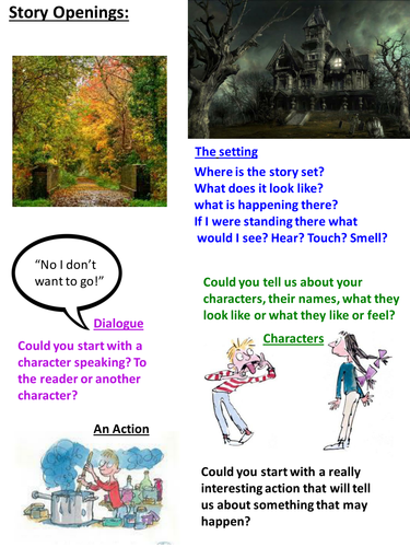 how to write a quest story ks2