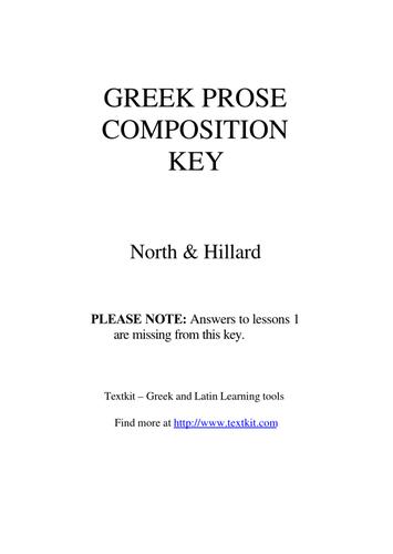 Classical Greek Prose