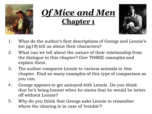 main characters mice and men