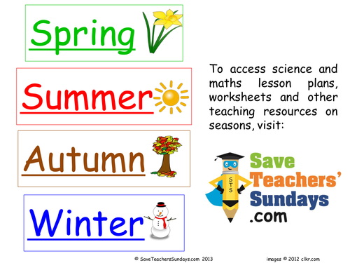 Seasons Flash Cards Flashcards 6362773 on Worksheets Seasons And Weather