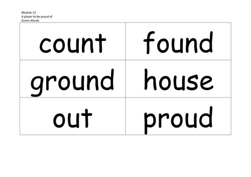RML Phonics Green words Modules 1-20