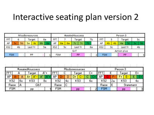Interactive seating plan Version 2
