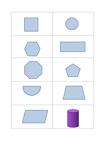 Worksheets Shape Name 2d 3d to shape name properties dominoes by gepocock teaching resources tes