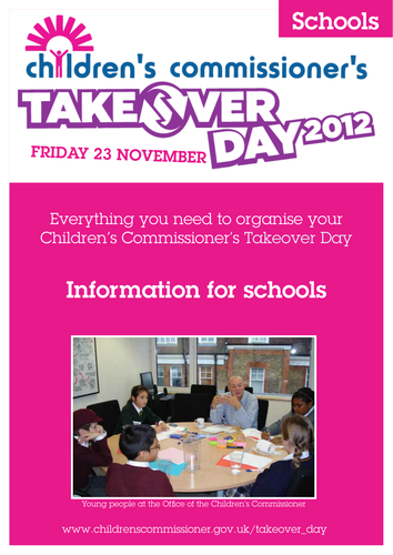 Takeover Day 2012 - Schools Guidance