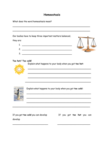 Worksheet Homeostasis Worksheet homeostasis temperature control and excretion by danielle21711 teaching resources tes