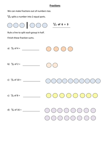 Half And Quarter Number Fractions By Calyons Teaching Resources Tes