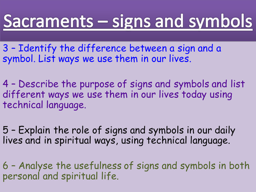 Sacraments Signs And Symbols By Usernameavailable Teaching
