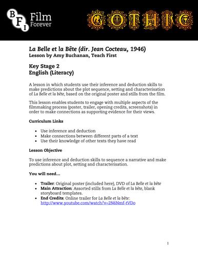 La Belle et la Bête - KS3 English Lesson 1