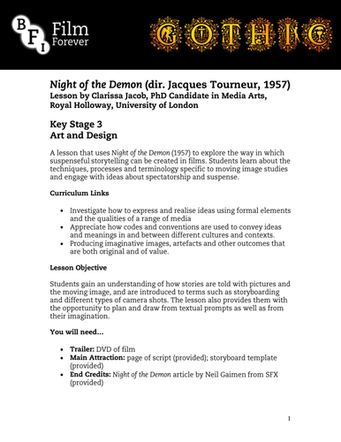Night of the Demon - KS3 Art