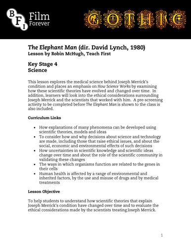 The Elephant Man - KS4 Science