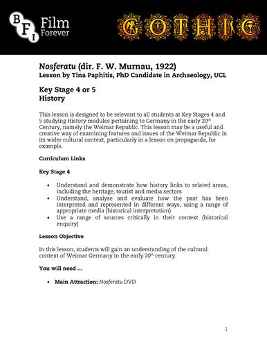 Nosferatu - KS4/5 History Lesson 2