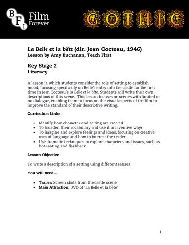 La Belle et la Bête - KS3 English Lesson 2
