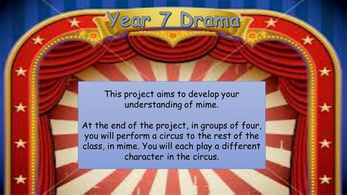 Drama - Circus Mime SoW L1