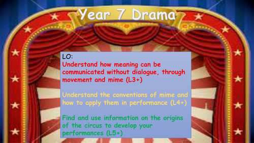 Drama - Circus Mime SoW 4