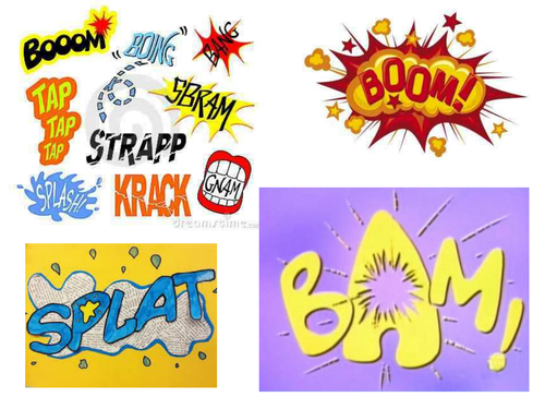 Traction Man Comics And Onomatopoeia By Rosabellaangelica Teaching