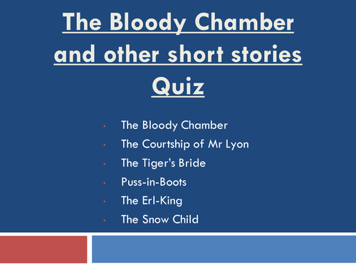 The Bloody Chamber Quiz
