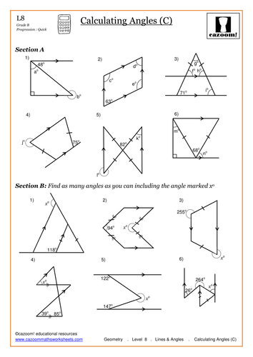 Calculating Missing Angles by anon7476 - Teaching Resources - TES