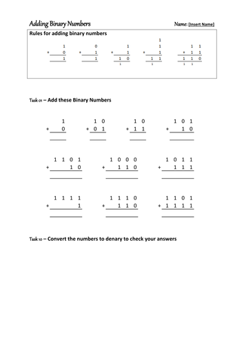 Introduction to Binary Numbers by willo79 - Teaching Resources - Tes