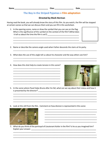 KS3The Boy in the Striped Pyjamas - full scheme p2 by FionaRigney -  Teaching Resources - Tes e38270eb2